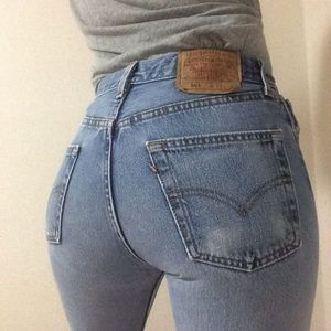 Vintage Levi's 501 High-Rise Wedgie Jeans     A423